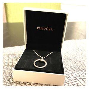 """Pandora """"O"""" necklace (silver)"""